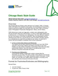 Chicago Basic Style Guide