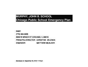 Chicago Public School Emergency Plan