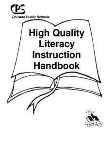 Chicago Public Schools. High Quality Literacy Instruction Handbook