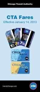 Chicago Transit Authority CTA Fares