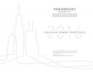 CHICAGO VENUE PORTFOLIO 1750 W. LAKE STREET CHICAGO, IL PARAMOUNTEVENTSCHICAGO