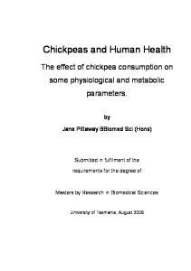 Chickpeas and Human Health