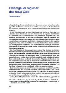 Chiemgauer regional: das neue Geld