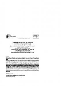 Child and adolescent abuse and subsequent victimization: A prospective study