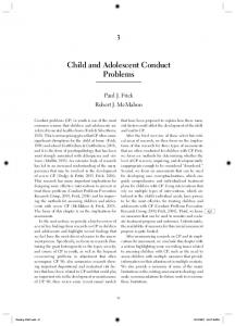 Child and Adolescent Conduct Problems