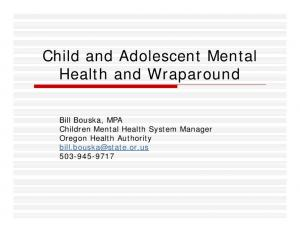 Child and Adolescent Mental Health and Wraparound