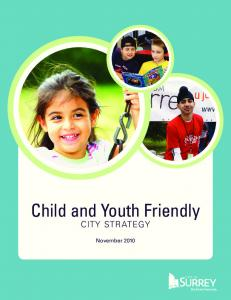 Child and Youth Friendly city strategy