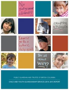 CHILD AND YOUTH GUARDIANSHIP SERVICES REPORT