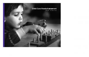 Child Care Needs Assessment San Mateo County