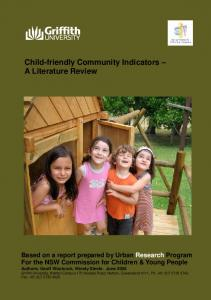 Child-friendly Community Indicators A Literature Review