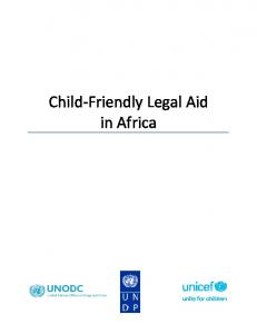 Child Friendly Legal Aid in Africa