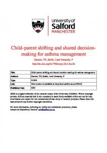 Child parent shifting and shared decisionmaking for asthma management