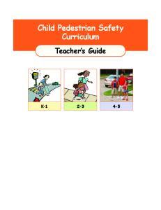 Child Pedestrian Safety Curriculum