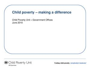 Child poverty making a difference