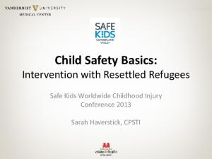 Child Safety Basics: Intervention with Resettled Refugees