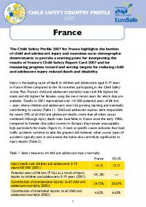 CHILD SAFETY COUNTRY PROFILE France