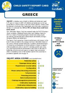 CHILD SAFETY REPORT CARD 2012 GREECE