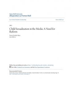 Child Sexualization in the Media: A Need for Reform
