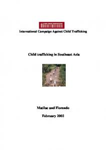 Child trafficking in Southeast Asia