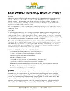 Child Welfare Technology Research Project