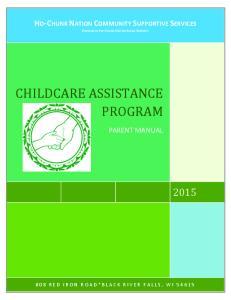 CHILDCARE ASSISTANCE PROGRAM