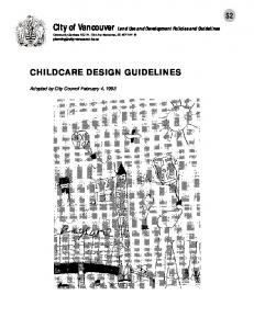 CHILDCARE DESIGN GUIDELINES. Adopted by City Council February 4, 1993