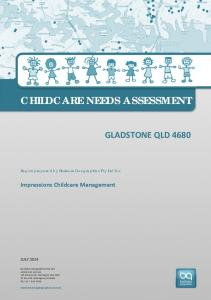 CHILDCARE NEEDS ASSESSMENT
