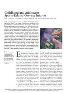 Childhood and Adolescent Sports-Related Overuse Injuries