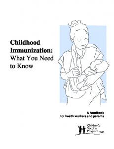 Childhood Immunization: What You Need to Know