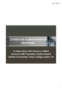Childhood maltreatment & psychosis