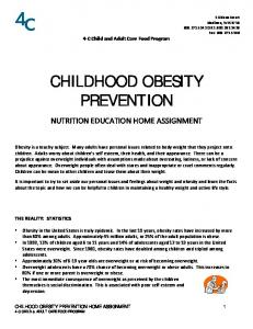 CHILDHOOD OBESITY PREVENTION
