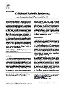 Childhood Periodic Syndromes