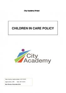 CHILDREN IN CARE POLICY