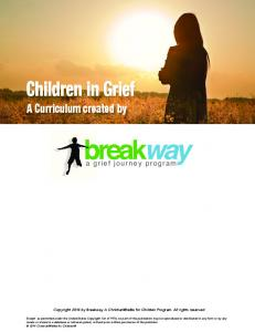 Children in Grief. a grief journey program