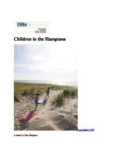 Children in the Hamptons