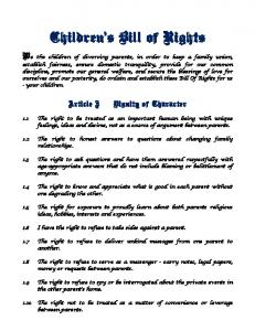 Children s Bill of Rights