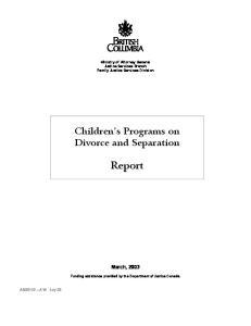 Children s Programs on Divorce and Separation