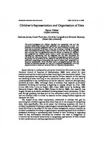 Children s Representation and Organisation of Data
