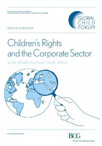 Children s Rights and the Corporate Sector