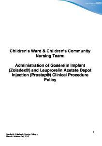 Children s Ward & Children s Community Nursing Team: