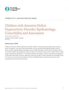 Children with Attention Deficit Hyperactivity Disorder: Epidemiology, Comorbidity and Assessment