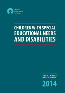 CHILDREN WITH SPECIAL EDUCATIONAL NEEDS AND DISABILITIES