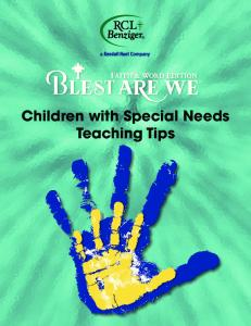 Children with Special Needs Teaching Tips