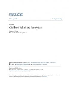 Children's Beliefs and Family Law