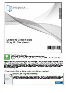 Childrens Gideon Bible Story On Storyboard
