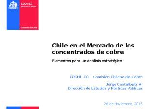 Chile en el Mercado de los concentrados de cobre