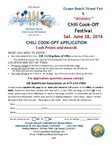 Chili Cook-Off Festival