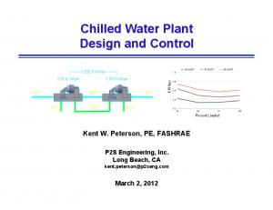 Chilled Water Plant Design and Control