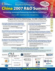 China 2007 R&D Summit