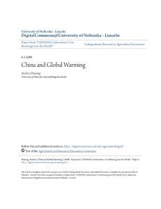 China and Global Warming